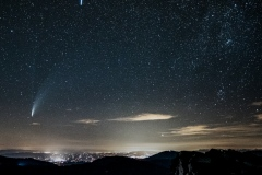 Comète Neowise et météorite au-dessus d'Aix les Bains